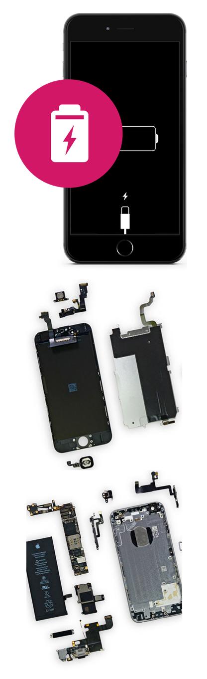 Замена аккумулятора на iPhone 5, 5c, 5s, SE в Екатеринбурге