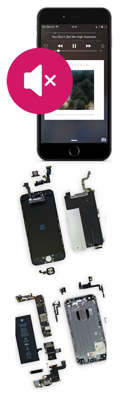 Замена динамика на iPhone 5, 5s, 5c, SE в Екатеринбурге