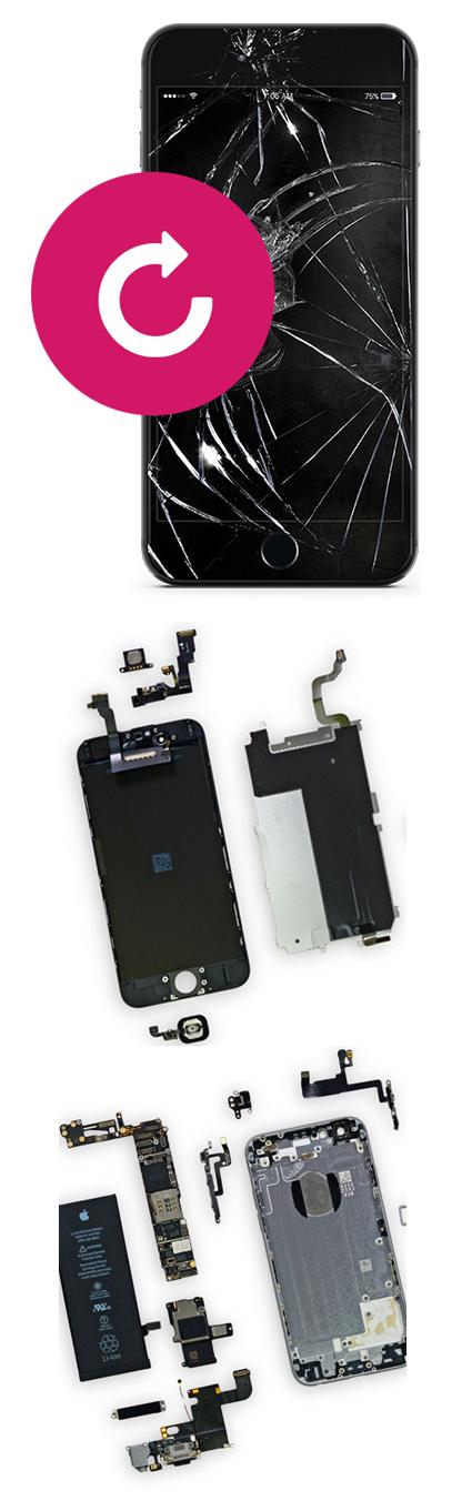 Замена стекла на iPhone 5, 5c, 5s, SE в Екатеринбурге