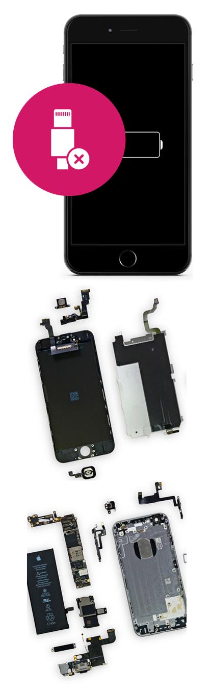 Замена гнезда зарядки на iPhone 7, 7 plus в Екатеринбурге